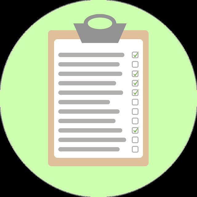 Clipboard Checklist Inspection