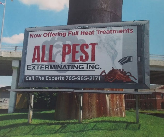 AllPest Pest Control Richmond Indiana Billboard