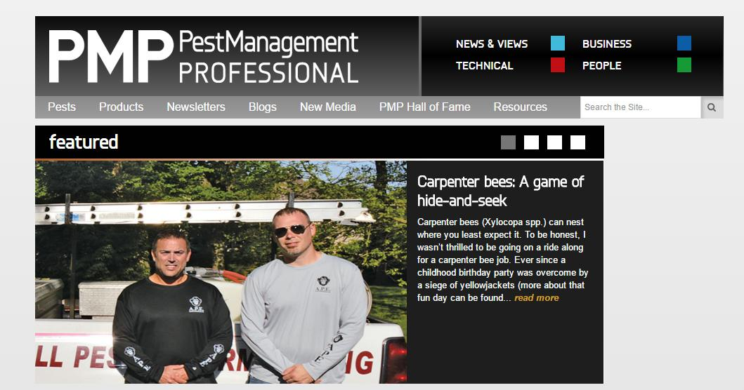 Featured in Pest Management Professional Magazine
